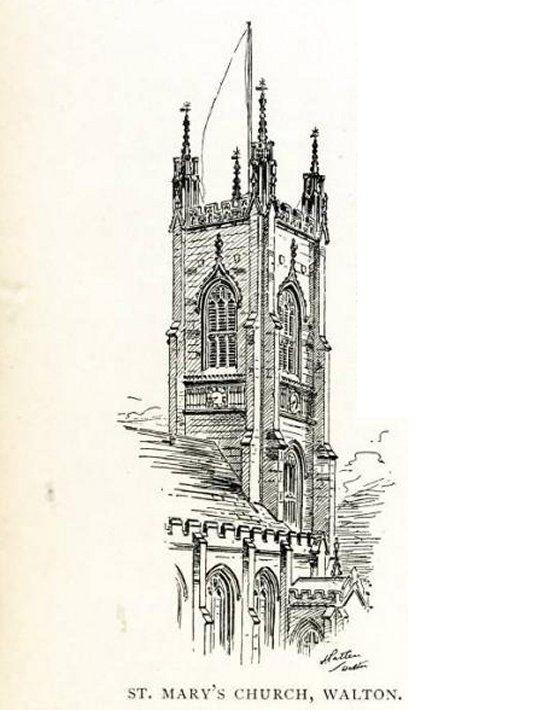 St Mary's, Liverpool, AKA Walton Parish Church liverpool-l4-walton-st-marys-church-1902