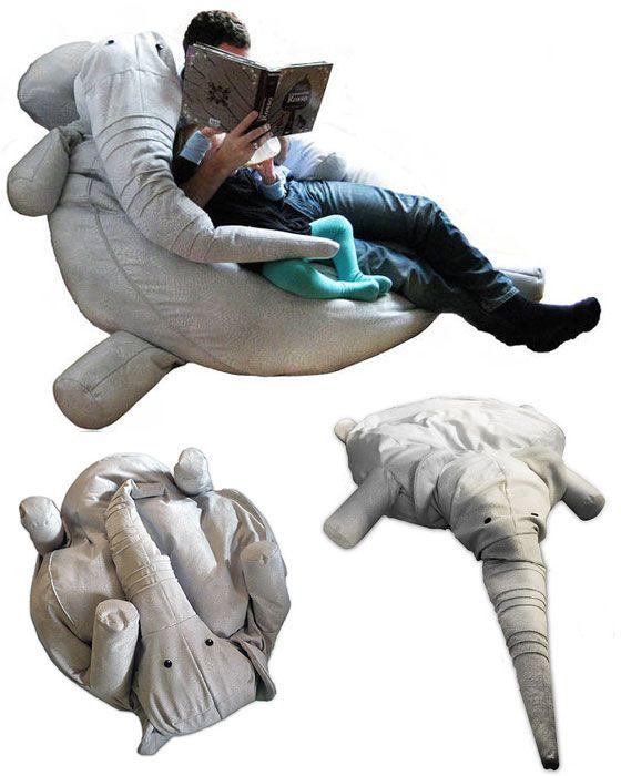 Elephant bean-bag chair