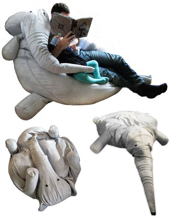 Elephant bean-bag chair