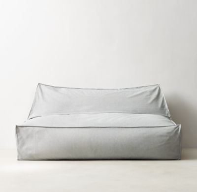 Rh Floor Pillows : RH TEEN s Distressed Canvas Wide Bean Bag Lounger:Version 2.0. Our relaxed lounger is a new take ...