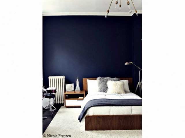 les 25 meilleures id es de la cat gorie chambres bleu. Black Bedroom Furniture Sets. Home Design Ideas