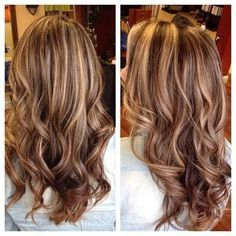 hair color ideas for brunettes with blonde highlights - Google Search