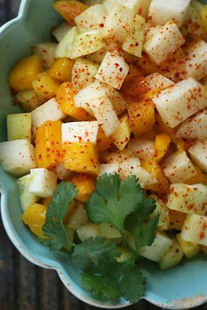 Paula Deen Mango, Jicama, and Cucumber Salad