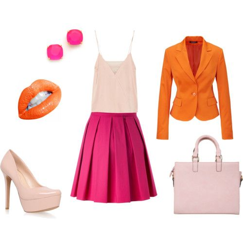 How to match: orange and pink