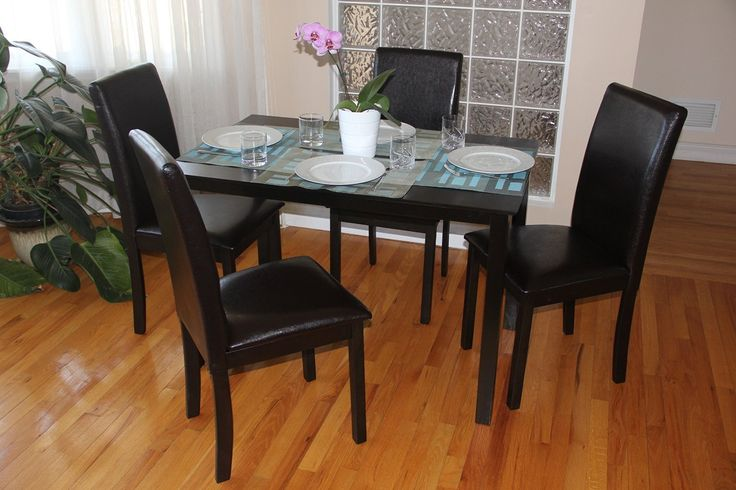 Kitchen decorating ideas - Kitchen tables and chairs sets, 5 piece black kitchen table set. Visit us for more info and where to buy!