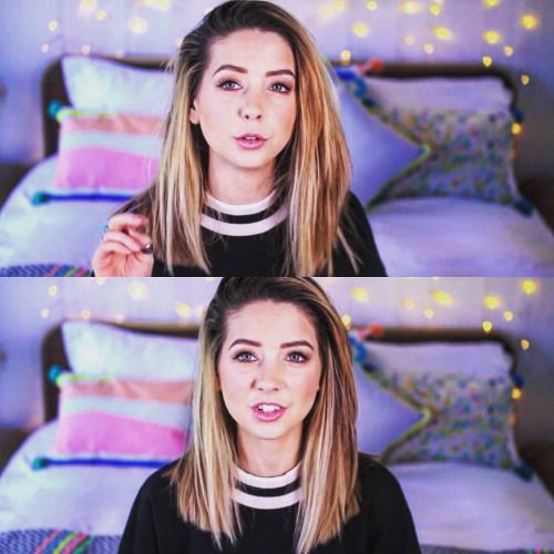 """femaleish: """" There is something in New @zoella video that I enjoy. When My hair will be longer and i will have money I might get that hairstyle with a Little blond bits. I #love you Zoe. #zoella..."""