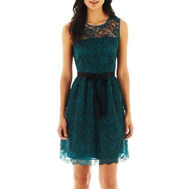 Danny & Nicole® Lace Dress - jcpenney