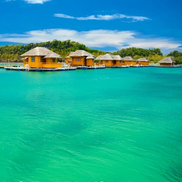 Floating cottages of Grace Island Resort in San Jose, Occidental Mindoro #philippines #mindoro #travel