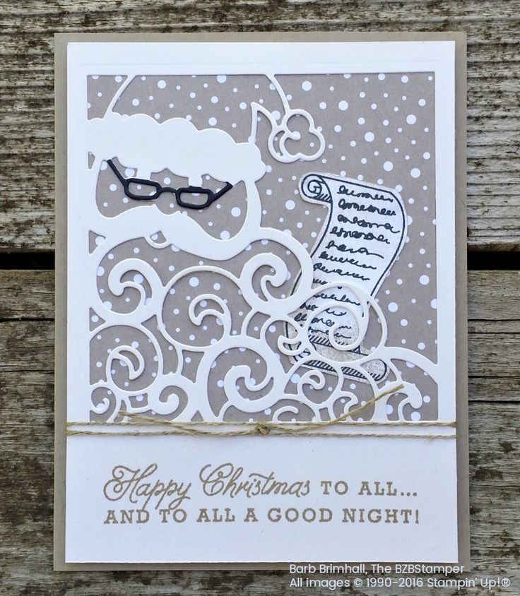 Greetings From Santa Bundle by the BZBStamper. Bundle available in the 2016 Stampin' Up! Holiday Catalog.