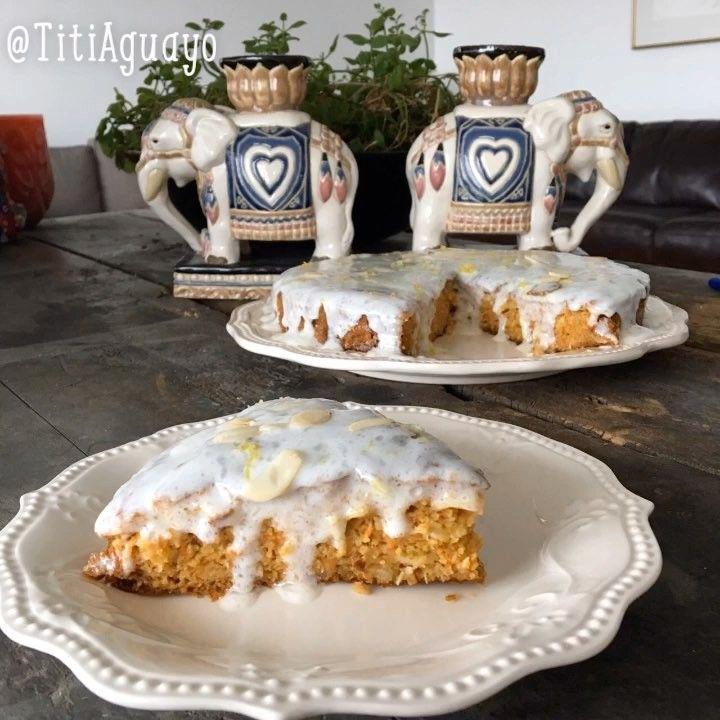 """1,107 Me gusta, 51 comentarios - TitiAguayo (@titiaguayo) en Instagram: """"Pastel de Zanahorias / Carrot Cake 🥕🥕🥕 Para el cake: 1. Una taza y media de harina de avena 2. Tres…"""""""