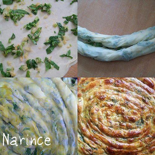 börek with spinach