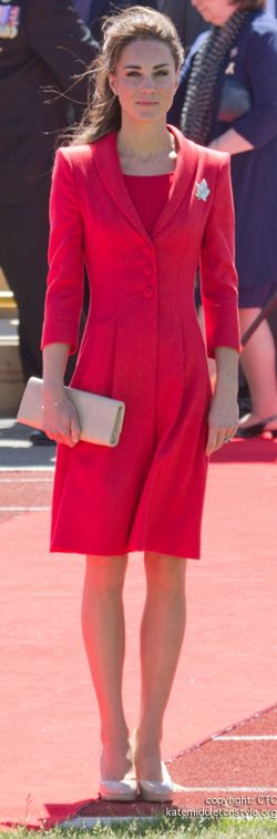 kate-middleton-red-coat-dress...Kate is making quite a statement with her coat dress!