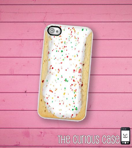 iPhone Case Toaster Pastry / Hard Case For iPhone 4 and iPhone 4S Kawaii Breakfast Food. $17.99, via Etsy.