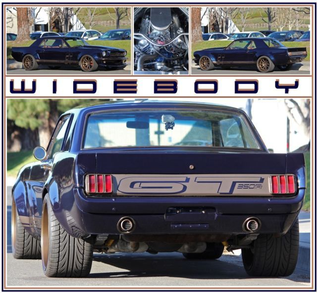1966 Ford Mustang Widebody Custom Show Car 1966 Ford Mustang