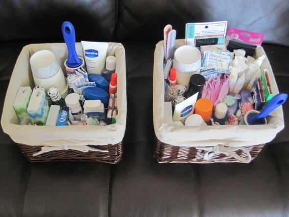 Pics of my Bathroom Baskets - Weddingbee