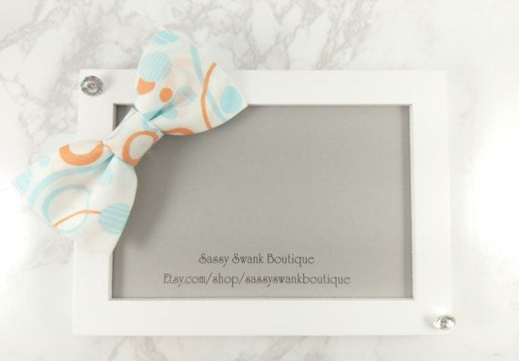 Pattern Clip On Bow Tie  Baby Clip On Bow by SassySwankBoutique