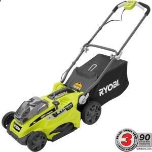Ryobi 16 in. ONE  18-Volt Lithium-Ion Cordless Lawn Mower with 2 Batteries P1111 at The Home Depot - Mobile