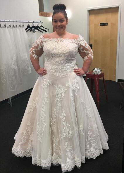 445 best images about size 16 brides on pinterest for Designer wedding dresses plus size