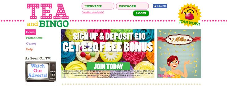 About Tea and Bingo Tea and Bingo has been opted for the Dragonfish software Bingo Network and is dedicated to providing bingo and slots games from a range of suppliers rather than dedicating itself to just one or two. The Tea and Bingo has been licensed by the United Kingdom Gambling Commission an