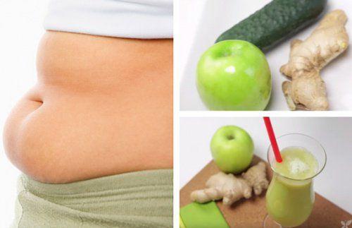 Vi ger dig ett recept med äpple, gurka och ingefära som du kan använda dig av regelbundet för att främja kroppens förmåga att gå ner i vikt.