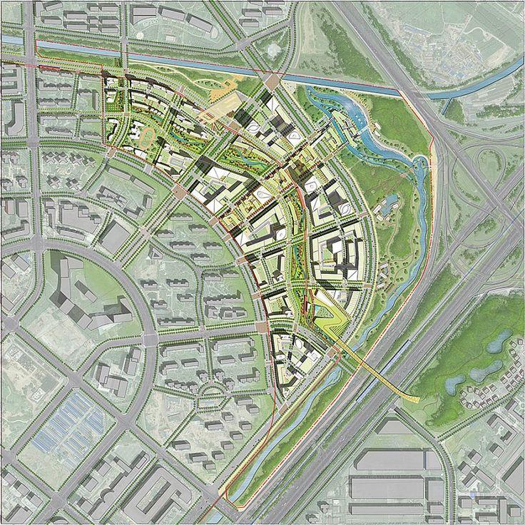 Som Beijing Dawangjing Cbd Concept Master Plan Urban Design Plan Pinterest Master Plan