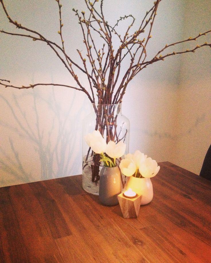 Eetkamertafel decoratie  home sweet home  Pinterest