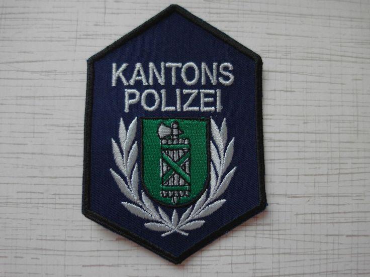 Swiss Police Patch Police Cantonale St.Gallen Kantons Polizei Switzerland   | eBay