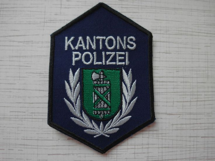 Swiss Police Patch Police Cantonale St.Gallen Kantons Polizei Switzerland   | eBay