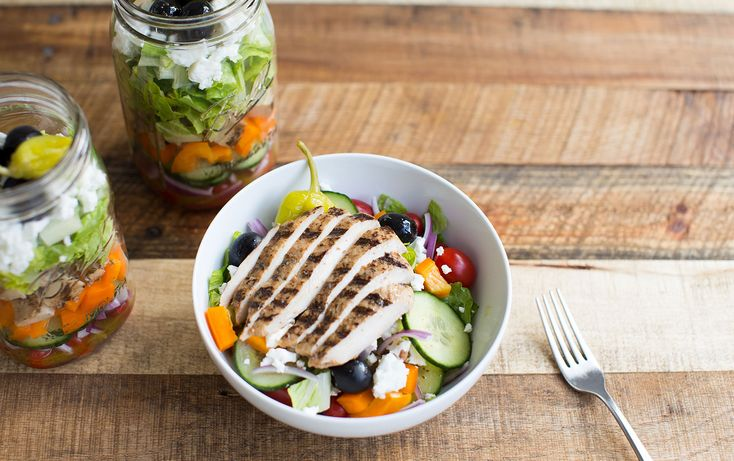 Mason jar salads are the perfect, portable solution for getting in your greens while on the go. You can make a few at a time, which saves you from having to mess up your kitchen and chop salad ingredients every day. This salad is packed with protein and fresh veggies, and comes together in just ...