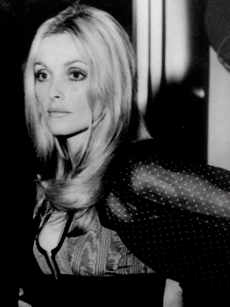 Sharon Tate at a London party for Peter Lawford, held in September of 1968