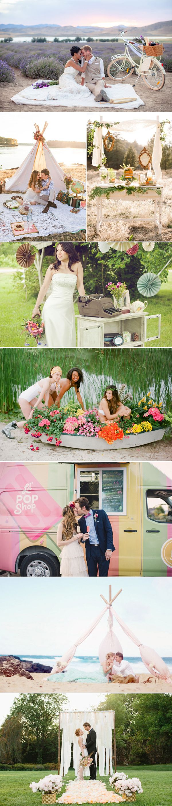 17 Creative Ideas to Style Your Engagement Shoot - Outdoors