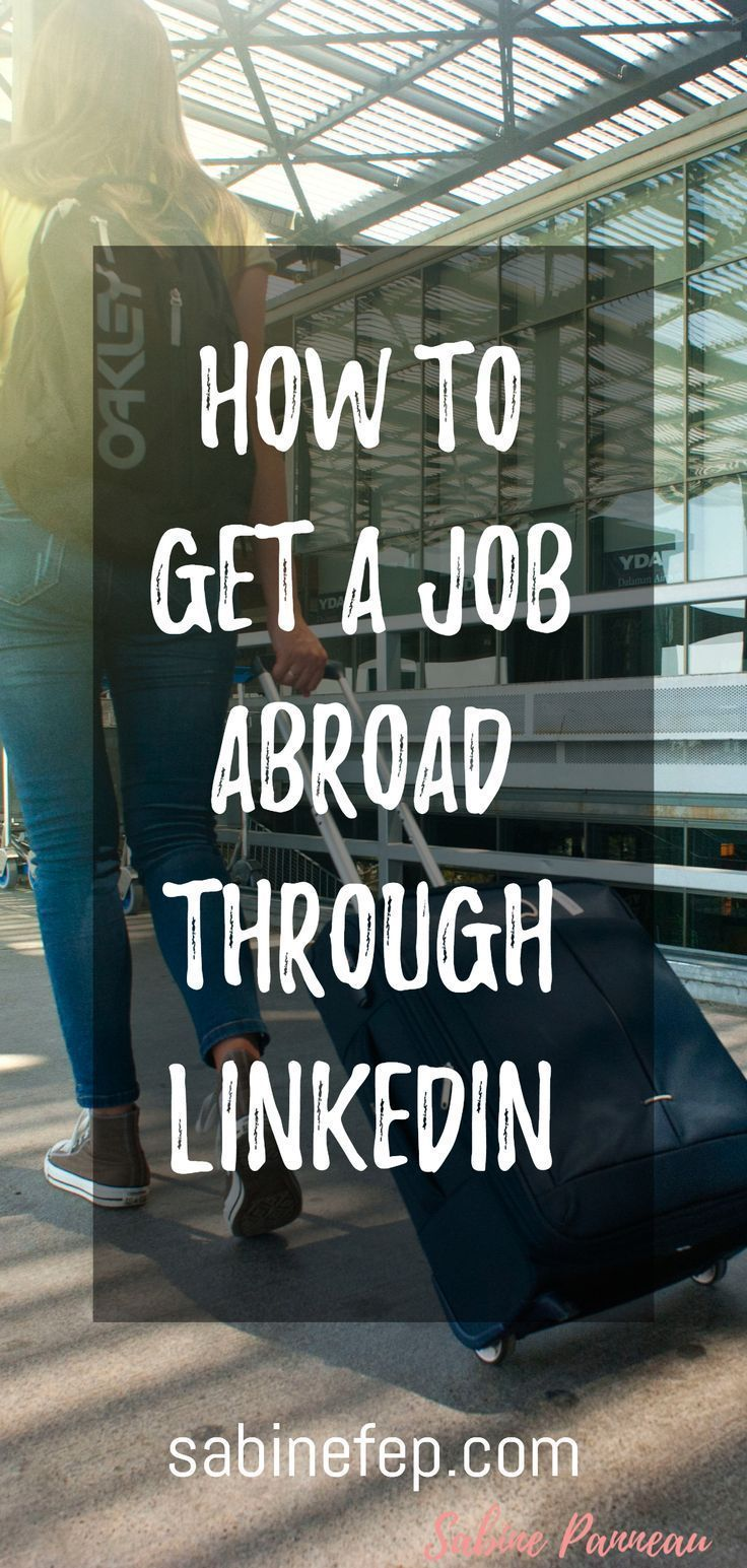 How To Get A Job In Uk From Abroad
