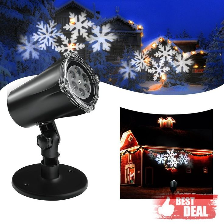Outdoor Christmas Light Projector Snowflake Yard Decoration Holiday Party Decor #UOUNE