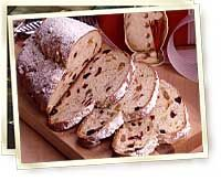 Holiday Stollen Recipe | Holiday and Specialty Breads | Makes 1 coffee cake. Dough can be prepared in all-size bread machines.