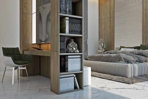 modern bedroom shelves