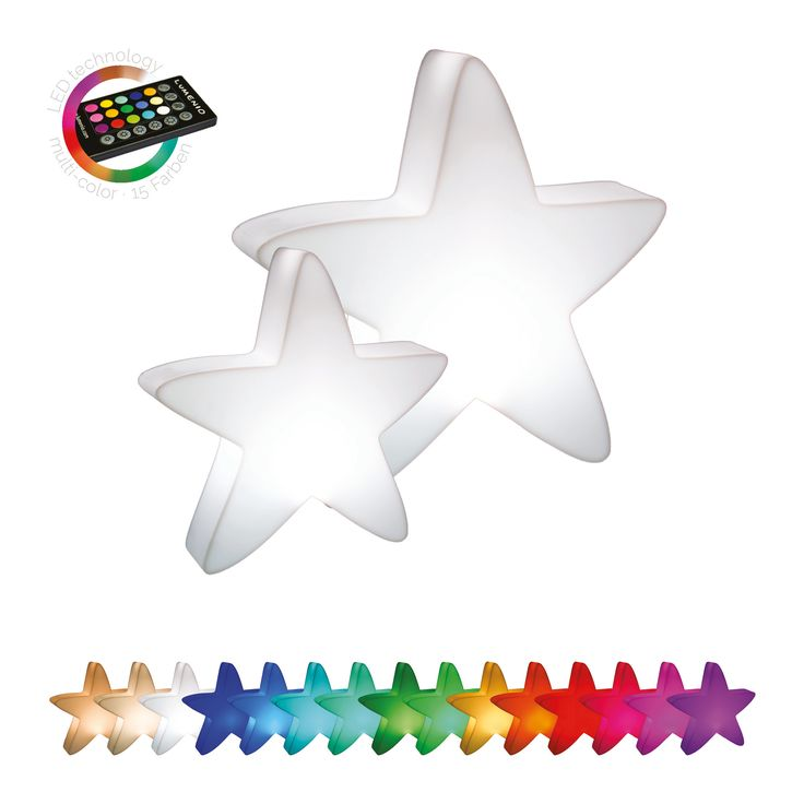 Simple Dank neuester LED Technik lassen sich die LUMENIO LED Sterne je nach Geschmack in einer der tollen Farben beleuchten und beliebig dimmen