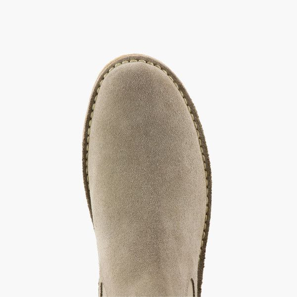 Chelsea Boots in Italian Suede – Taupe