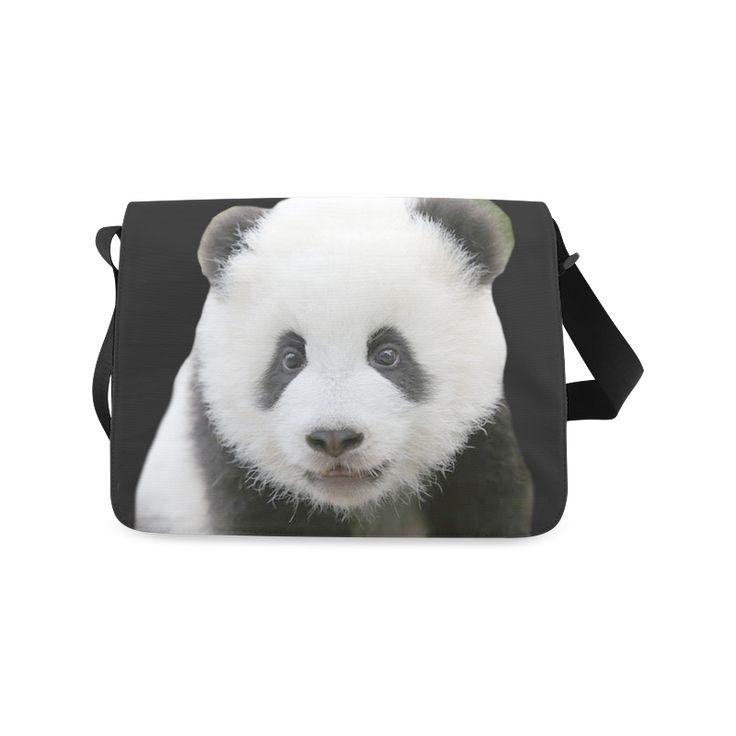 Panda Bear Messenger Bag. FREE Shipping. #artsadd #bags #panda