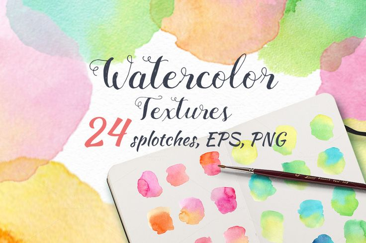 Watercolor textures. by colibri on @creativemarket