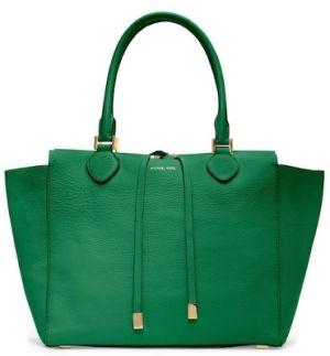 kelly green handbag | michael kors