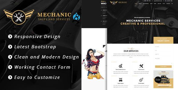 Mechanic - Car Service & Workshop Bootstrap Drupal 8 Theme • Download theme…