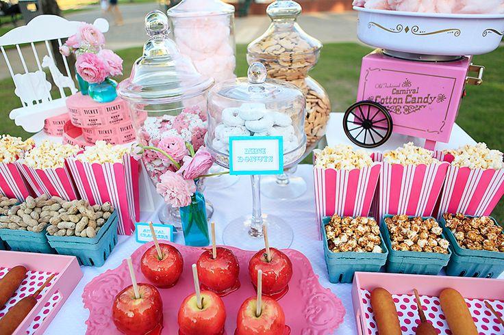 Vintage carnival set up