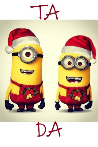 Minions Xmas Wallpaper Cute #cute #minions #christmas