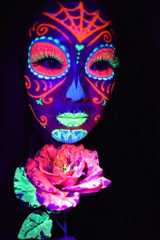 Best 25+ Neon Face Paint Ideas On Pinterest   Glow Face Paint Black Light Makeup And Uv Face Paint