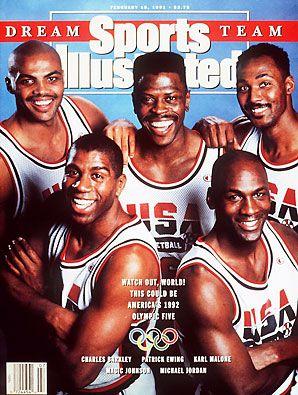 Barkley, Ewing, Malone, Johnson & Michael JordanDreams Team, Photos Gallery, Legends, Nba, 90S Nostalgia, Dream Team, Dreamteam, Sports Illustration, Michael Jordans