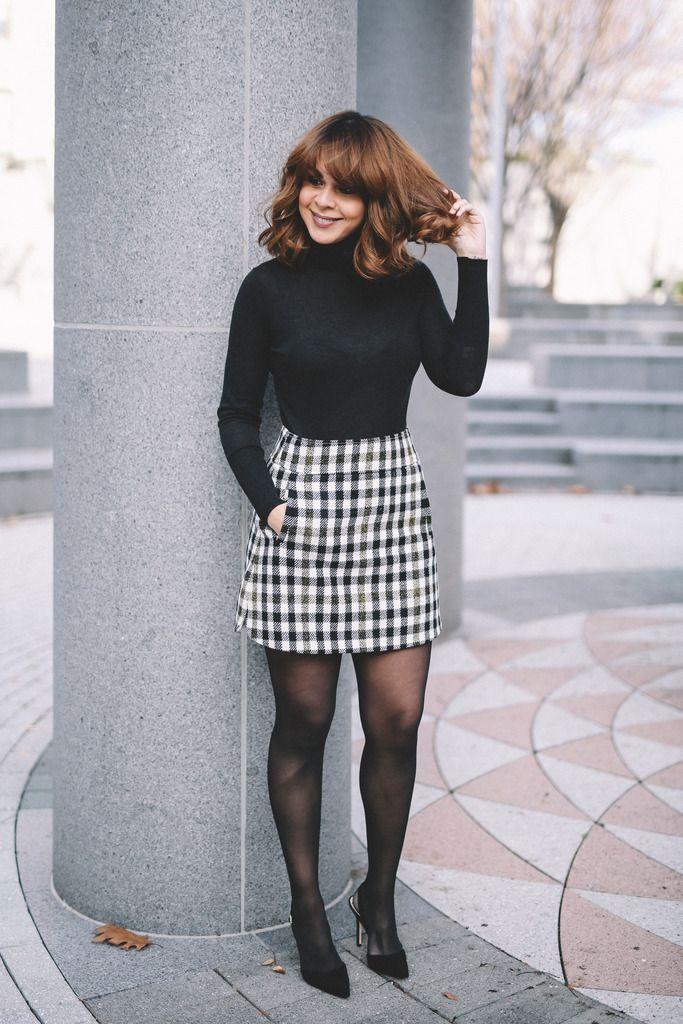 Wearing: Zara turtleneck, J.Crew plaid skirt, Sam Edelman pumps     Scored this plaid mini during J.crew's Black Friday sale and ...
