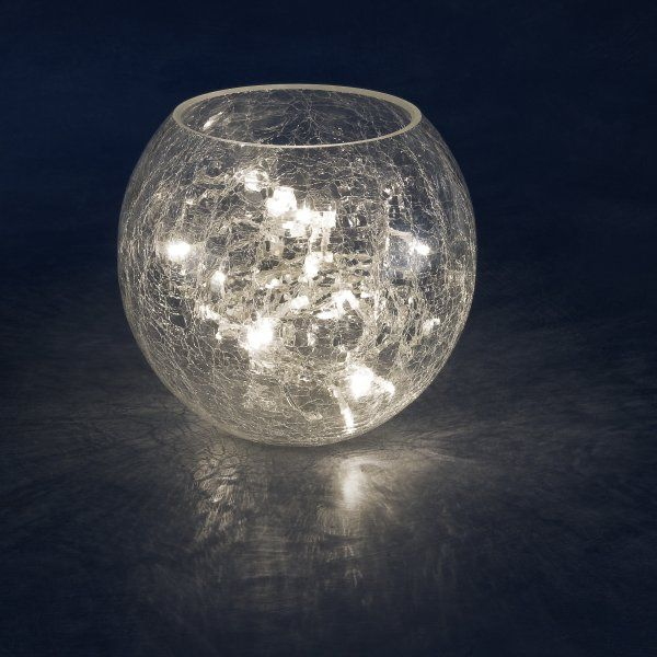 Konstsmide Indoor Crackle Glass Vase With 32 Warm White Static LED Fairy  Lights - Fairy Lights UK | Fairy