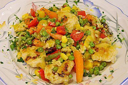 Bunte Gemüse - Eiernockerl