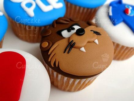 Taz Cupcake - by CupcakeCity @ CakesDecor.com - cake decorating website