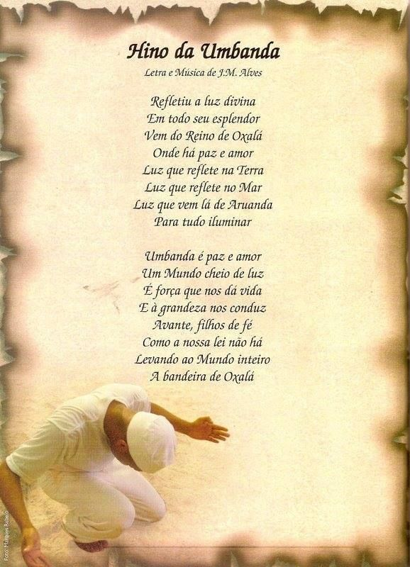 Historia del himno de la religion umbanda